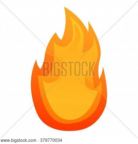 Passion Fire Flame Icon. Cartoon Of Passion Fire Flame Vector Icon For Web Design Isolated On White