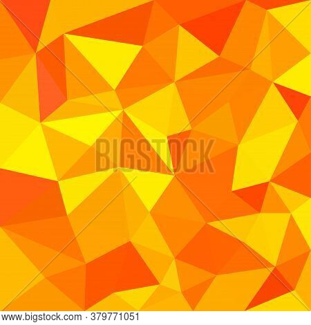 Orange And Yellow Triangular Abstract Background Vector Illustration