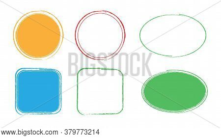 Set Of Frames Of Different Shapes And Colors. A Solution For Design And Creativity. Isolated On A Wh