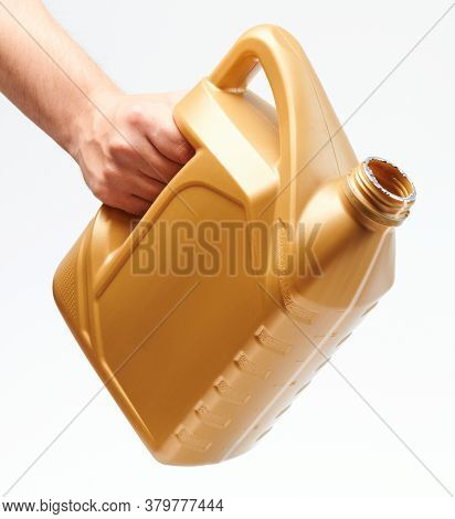 Hand Hold Open Yellow Jerrycan