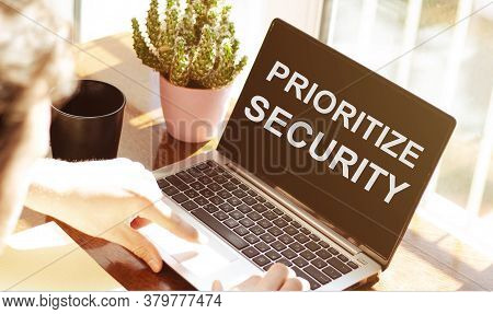 Prioritize Security Social Networking Technology Innovation Concept