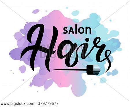 Concept Logo For Haircut Salon Or Studio; Hair Lettering Text; Brand Name Vector Illustration