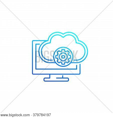Cloud Solutions Icon, Line Vector, Eps 10 File, Easy To Edit
