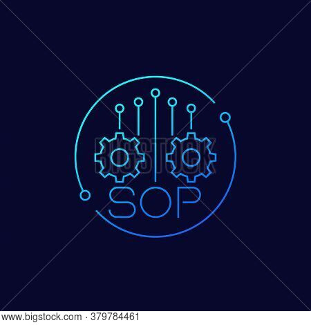 Sop, Standard Operating Procedure Icon, Linear, Eps 10 File, Easy To Edit