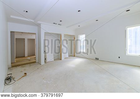 Construction Building Industry New Home Construction Interior Drywall Tape A New Home Before Install