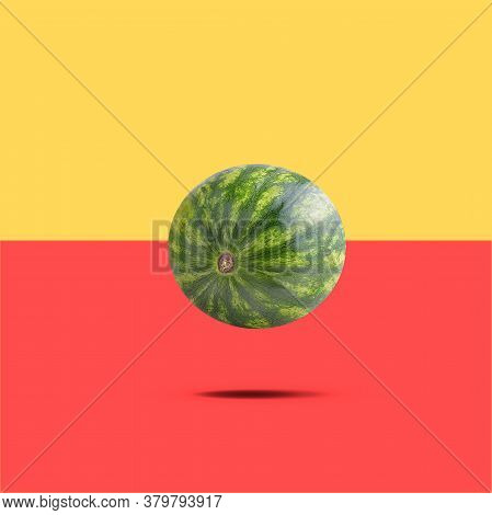 Falling Fruits Isolated On White Background With Clipping Path