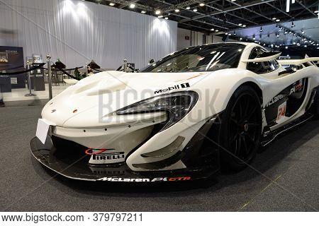 Dubai, Uae - November 16: The Mclaren P1 Gtr Race Car Is Dubai Motor Show 2019 On November 16, 2019