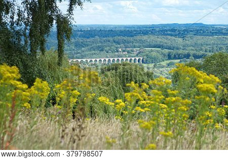 View Of Cefn Mawr Viaduct Which Carries The Chester And Shrewsbury Railway Over The River Dee Betwee