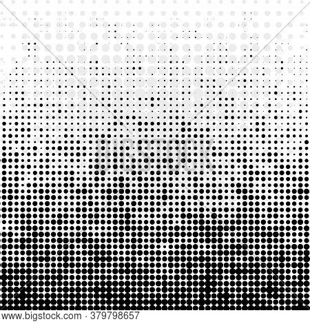 Abstract Futuristic Halftone Pattern. Black And White Abstract Background. Halftone Effect. Design E