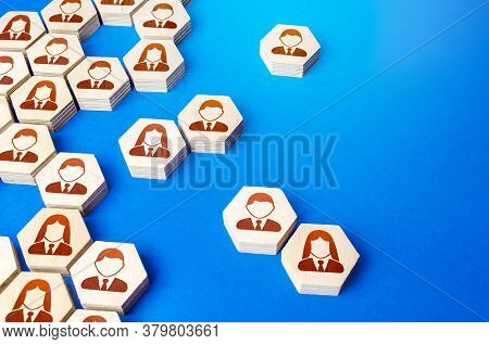 Heterogeneous Social Structure Of Employee Hexagons. Recruiting And Personnel Management. Process Of