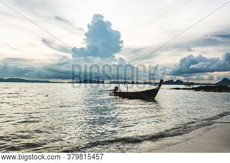 Fishing Boat In The Sea , Krabi Thailand