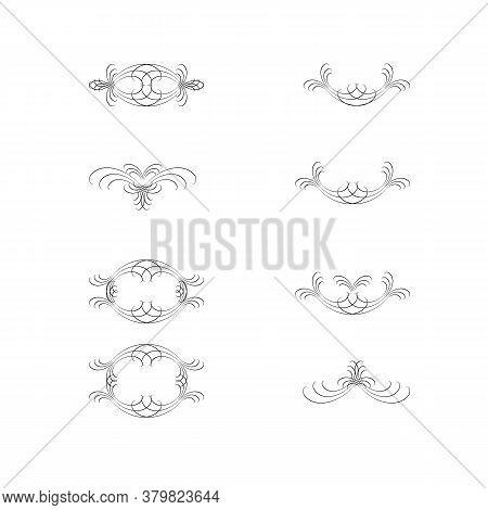 Decorative Swirls Dividers. Elegance Line For Frame, Invitation. Delimiter Old Text, Calligraphic Sw