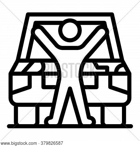 Hand Auto Mechanic Icon. Outline Hand Auto Mechanic Vector Icon For Web Design Isolated On White Bac