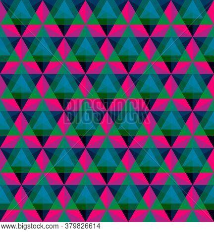 Triangular Geometric Seamless Pattern Vector Illustration Design Element