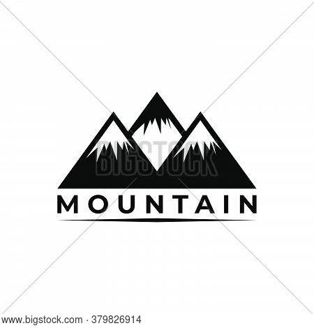 Mountain Icon Vector. Mountain Icon Black On White Background. Mountain Hills Icon Simple And Modern
