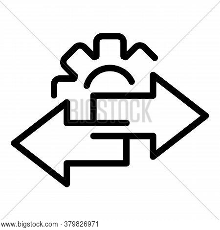 Gear Restructuring Icon. Outline Gear Restructuring Vector Icon For Web Design Isolated On White Bac