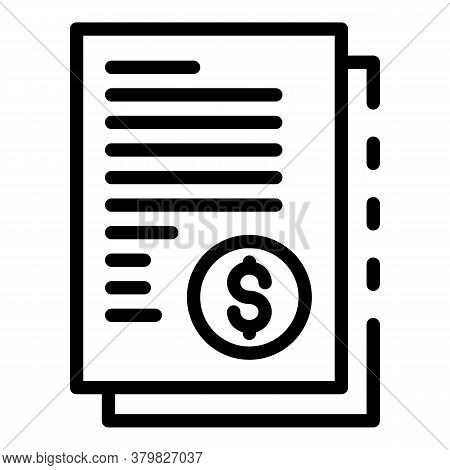 Restructuring Money Papers Icon. Outline Restructuring Money Papers Vector Icon For Web Design Isola