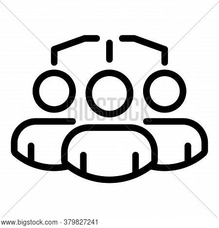 Restructuring People Group Icon. Outline Restructuring People Group Vector Icon For Web Design Isola