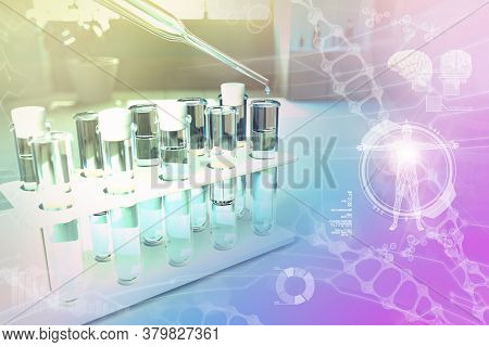 Drinking Water Quality Test For Viruses (like Covid-2019) Concept - Lab Proofs In Modern Biotechnolo