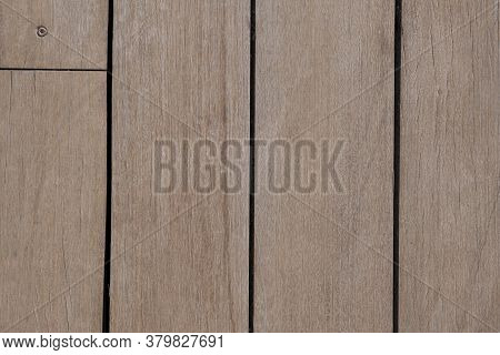 Untreated Vertical Wood Plank Boards Close Up. Natural Wood Texture For Background.