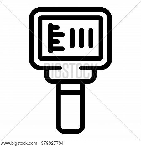 Heating Thermal Imager Icon. Outline Heating Thermal Imager Vector Icon For Web Design Isolated On W