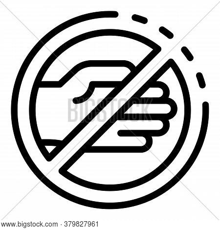Restricted Hitchhiking Icon. Outline Restricted Hitchhiking Vector Icon For Web Design Isolated On W