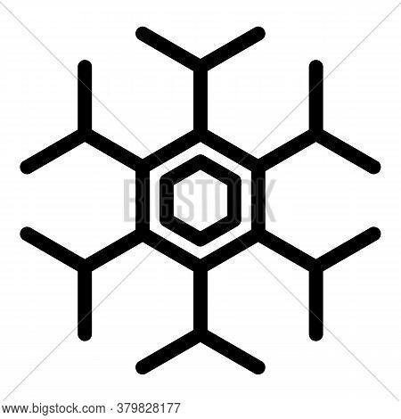 Hormones Celule Icon. Outline Hormones Celule Vector Icon For Web Design Isolated On White Backgroun