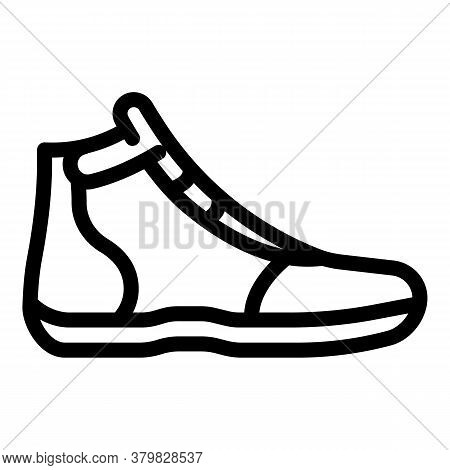 Greco-roman Wrestling Shoe Icon. Outline Greco-roman Wrestling Shoe Vector Icon For Web Design Isola