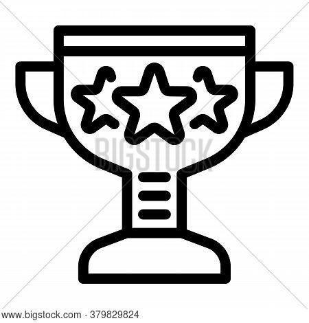 Sport Cup Competition Icon. Outline Sport Cup Competition Vector Icon For Web Design Isolated On Whi