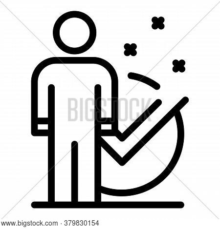 Certified Businessman Icon. Outline Certified Businessman Vector Icon For Web Design Isolated On Whi