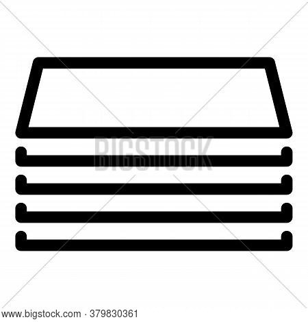 Storage Files Icon. Outline Storage Files Vector Icon For Web Design Isolated On White Background