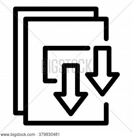 Storage Documents Icon. Outline Storage Documents Vector Icon For Web Design Isolated On White Backg