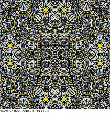 Simple Italian Maiolica Tile Seamless Ornament. Ethnic Geometric Vector Elements. Coverlet Print Des