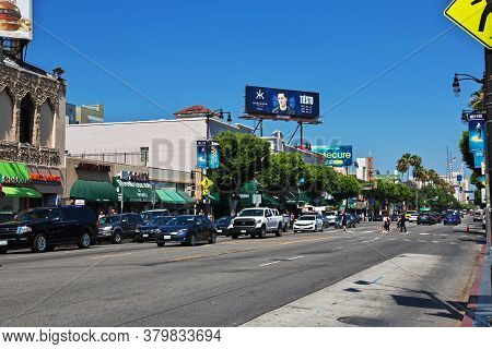 Los Angeles / United States - 15 Jul 2017: Alley Of Stars In Hollywood, Los Angeles, California, Usa