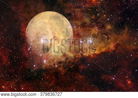 Planet Mars. Solar System. Cosmos Art. Elements Of This Image Furnished By Nasa