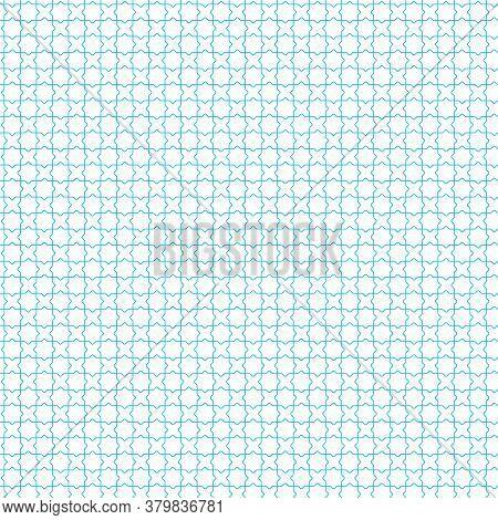 Simple Seamless Blue Geometric Jalousie Background In Plain Style. Flat.
