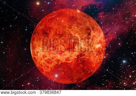Planet Venus. Solar System. Cosmos Art. Elements Of This Image Furnished By Nasa