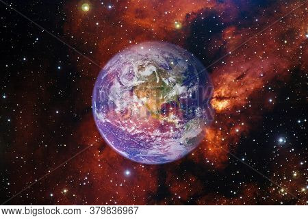 Planet Earth. Science Fiction Wallpaper. Elements Of This Image Furnished By Nasa