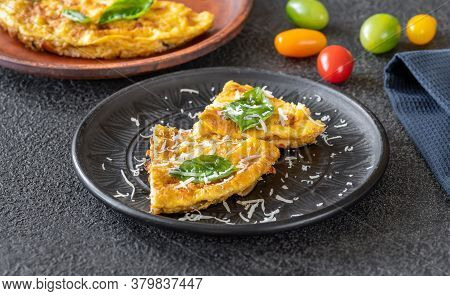 Frittata With Vegetables And Cheese