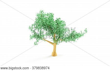 Tree Isolated. Image Useful For Banners And Posters Or Photo Maipulations. 3d Render Illustration