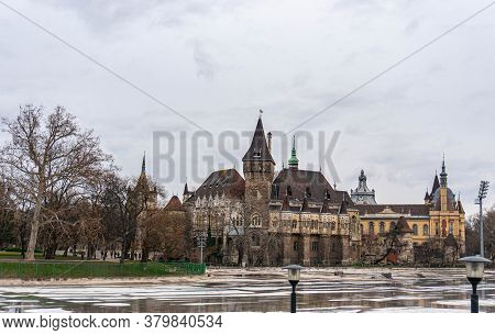 A View Of The Vajdahunyad Castle In Budapest, Hungary