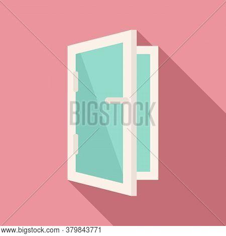 Home Installed Window Icon. Flat Illustration Of Home Installed Window Vector Icon For Web Design
