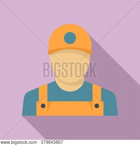 Window Installation Worker Icon. Flat Illustration Of Window Installation Worker Vector Icon For Web