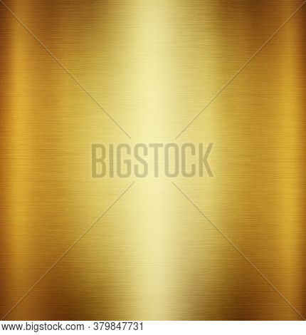 Gold Metal Texture Background Or Yellow Steel Plate Surface