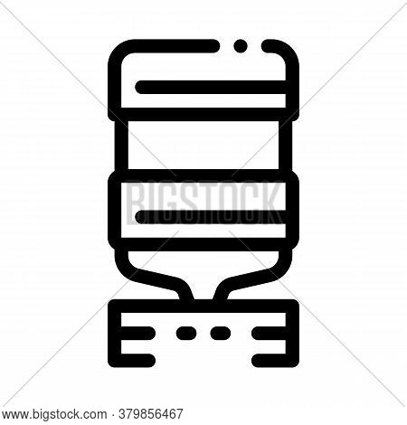 Office Water Cooler Icon Vector. Office Water Cooler Sign. Isolated Contour Symbol Illustration