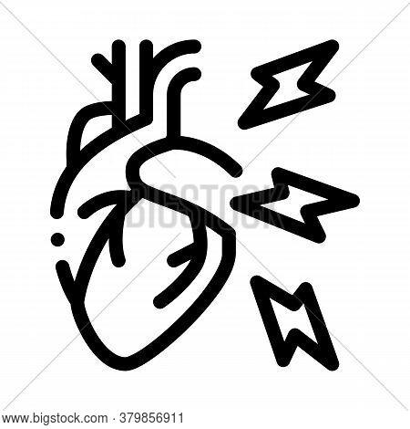 Hypertension Illness Icon Vector. Hypertension Illness Sign. Isolated Contour Symbol Illustration