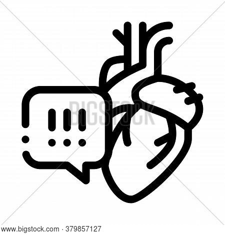 Hypertension Call Doctor Icon Vector. Hypertension Call Doctor Sign. Isolated Contour Symbol Illustr