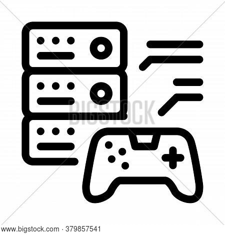Game Main Menu Icon Vector. Game Main Menu Sign. Isolated Contour Symbol Illustration