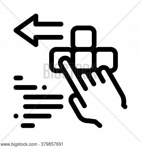 Push Game Controller Button Icon Vector. Push Game Controller Button Sign. Isolated Contour Symbol I