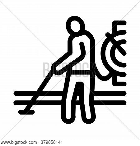 Drain Cleaning Service Icon Vector. Drain Cleaning Service Sign. Isolated Contour Symbol Illustratio